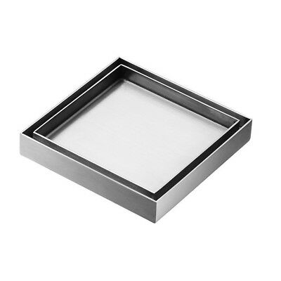 Fits 100 mm Stainless Steel 316 Grate Smart Square Floor Waste - Tile Insert