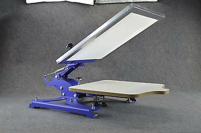 1 Color 1 Station Screen Printing Press Equipment Adjust Plate 4 Directions Move