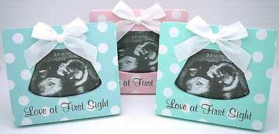 New 4 Little Ducks Pink Blue Green Ultrasound Picture Frame Baby Photo Pregnancy