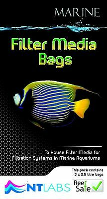 Nt Labs Marine Filter Media Bags 3 Bags X 2.5 Litre