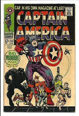 Captain America # 100 (First Silver Age Solo Book, Apr 1968), Fn