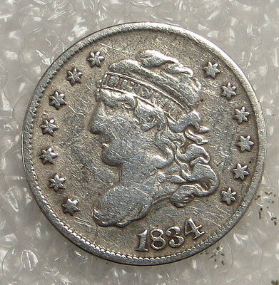 1834 Capped Bust Half Dime ungraded