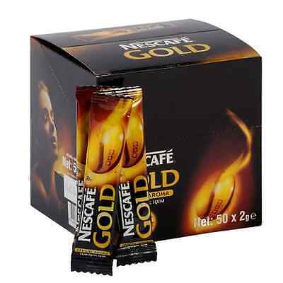 50 On-The-Go packets Nescafe GOLD DARK ROAST Instant coffee NO SUGAR