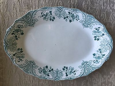 "Antique Milton W. H. Grindley oval 17"" tray"