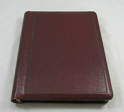 Vtg Decker's Store Anderson Lafayette Leather Cover Bound Mtg Binder Stationary
