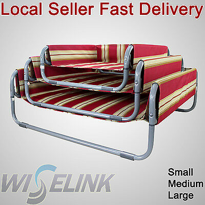 Large Portable Washable Pet Dog Cat Bed Canvas Cover Heavy Duty Metal Frame Sofa