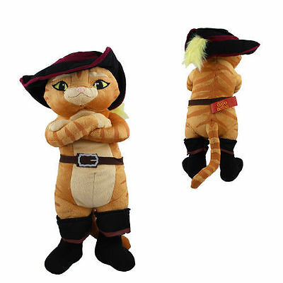 Hot ! Shrek Puss in Boots 36cm Soft Plush Toy Doll For Kids Gifts NEW