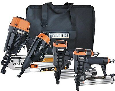 Freeman P4FRFNCB Framing/Finishing Combo Kit with Canvas Bag 4-Piece