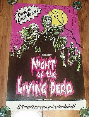 Night Of The Living Dead 11X17 R78 Horror Movie Poster New Line Cinema