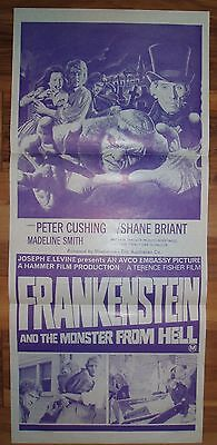 Frankenstein And The Monster From Hell 1974 Movie Poster Australian Daybill