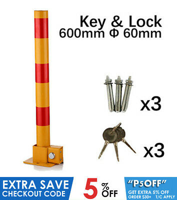 Fold Down Vehicle Security Car Parking Safety Bollard Post Barrier parking lock