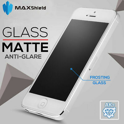Maxshield Matte Tempered Glass Screen Protector For Apple Iphone X 8 7 6S 6 Plus