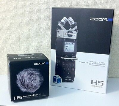 NEW ZOOM H5 Handy Portable Recorder PCM / Accessory Kit APH-5 from JAPAN