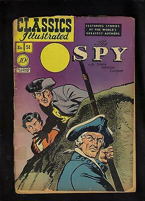 Classics Illustrated #51 Poor   Hrn51 (O) The Spy (James Fenimore Cooper)