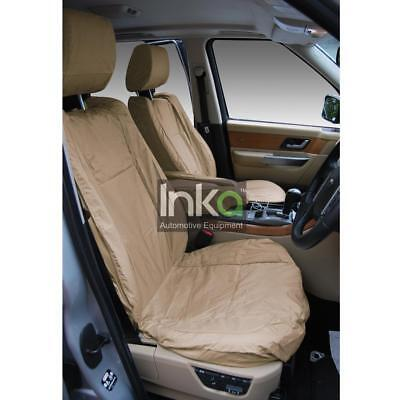 Range Rover Sport Front Inka Fully Tailored Waterproof Seat Cover Beige & Grey