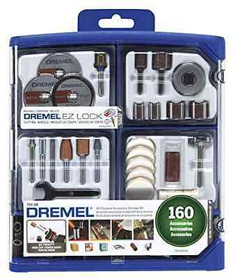 Dremel All Purpose Rotary Accessory Bit Set 160 Pieces W/Reusable Storage Case