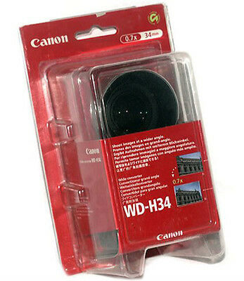 Canon WD-H34 Wide Angle camcorder lens 9584A001 for Optura/Elura w/ 34mm thread