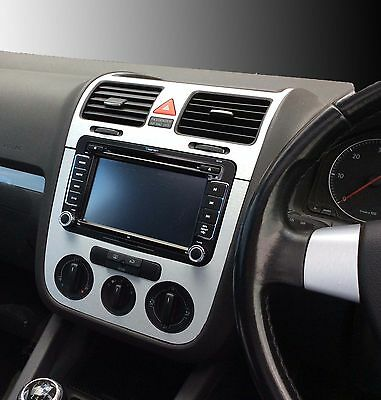 VW Golf Mk5 Jetta Bora Brushed aluminium effect dash surround + air vents  C