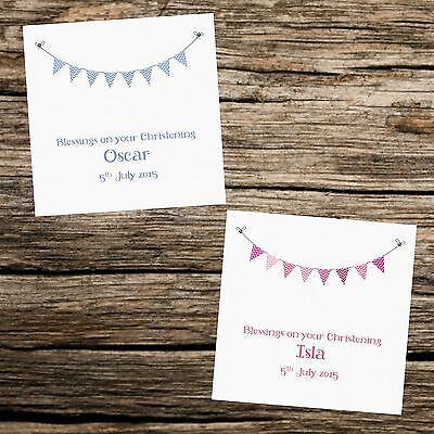 Personalised Bunting Card -  Christening - Naming Day - First Holy Communion