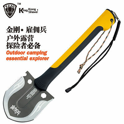 Multifunction military Shovel Hunting Knife outdoor Self Driving Camping Tool