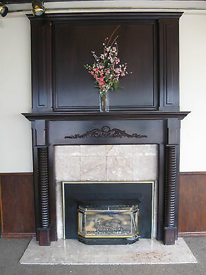 1870 39 S Pine Decorative Turn Spindle Fire Place Mantel