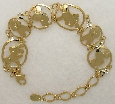 Bichon Frise Jewelry Gold Bracelet by Touchstone Dog Designs