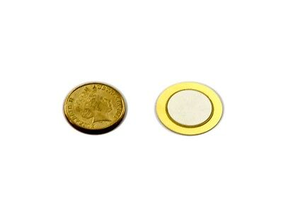 Cold Gold 27mm Piezo Disc / Element / Transducer / DIY