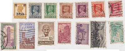(JM-47) 1937-65 India mix of 39 3P to 1R
