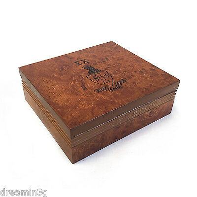 Sigma Chi Brown Marble Wood Pin/Watch Box w/ Letters & Crest