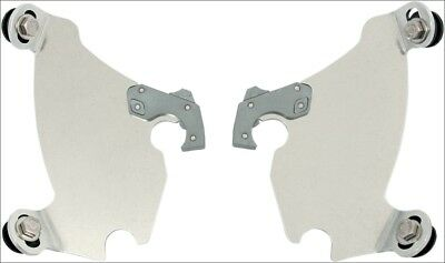 Memphis Shades Polished Plate Only Mounts Gauntlet Fairing Harley XL 883C 1200C