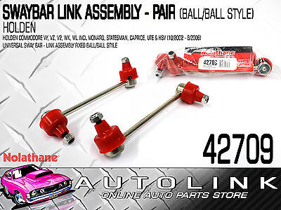 Nolathane Front Sway Bar Link Pair Suit Holden Commodore Calais Vy Vz V2 02-06