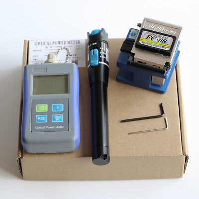Optical Power Meter FC-6S Fiber Cleaver 20mw Visual Fault Locator FTTH Tool Kit