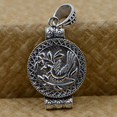 Cremation Jewelry Ash CASKET Urn Pendant  925 STERLING SILVER photo frame S50