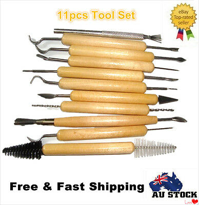 11ps DIY Wax Carving Carvers Polymer Clay Sculpting Sculpture Pottery Tools