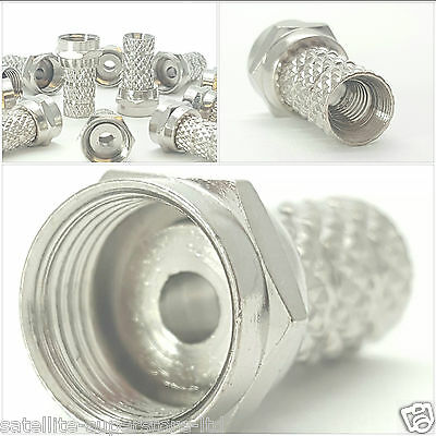 100 x Type 63 (Sky+) F Connector Screw Plug for WF/CT65 - Sky+