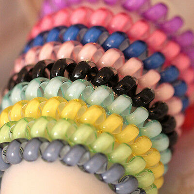 10x Black/Colorful Girl Elastic Rubber Hair Ties Band Ropes Ponytail Holder