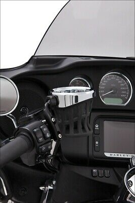 Ciro Black Left or Right Perch Mount Drink Holder for Harley or Metric Models