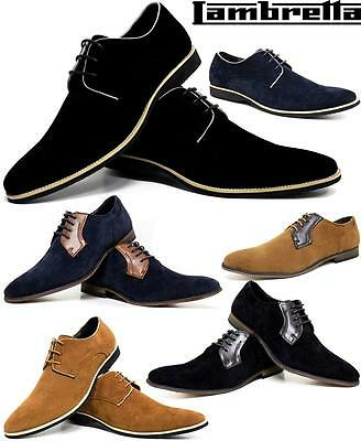 Mens Smart Office Wedding Shoes Faux Suede Formal Casual Party Brogue Shoes Size