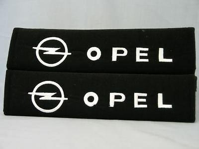 Pair of Seat belt Soft Pads Cover OPEL Logo NEW!
