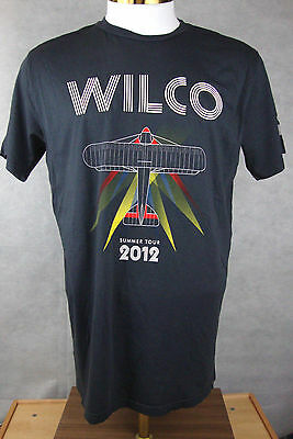 Large WILCO 2012 Summer Concert Tour Local Crew T-Shirt Jeff Tweedy Uncle Tupelo