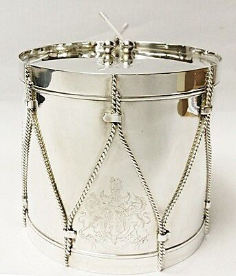 Antique Silver Plated Drum Biscuit Box 1880 stock id 8279