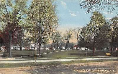 Ogdensburg New York scenic view Hamilton Park antique pc Z12302