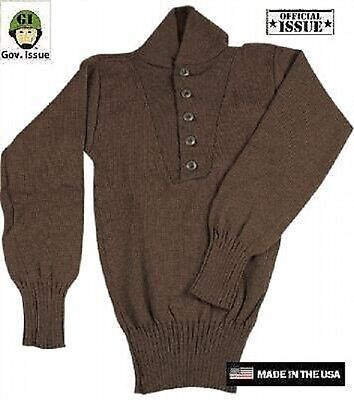 US Army USMC Military Brown 5 Button Sweater Pulli REFORGER S / Small