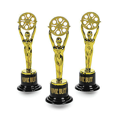12 Trophy TV Award Movie Buff Gold Trophies ~ Game Night Prize