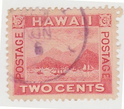 (JN-112) 1894 Hawaii 2c red Honolulu (B)