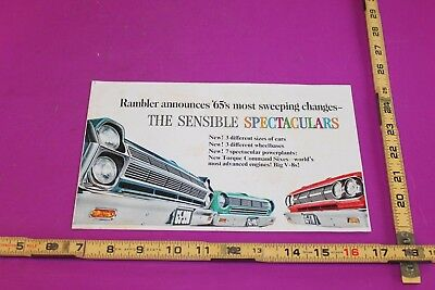 1965 Rambler Brochure. 8 pgs. See pics for condition.