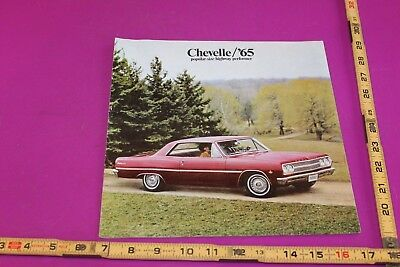 1965 Chevrolet Chevelle Brochure. 16 pgs. Some stains. See pics for condition