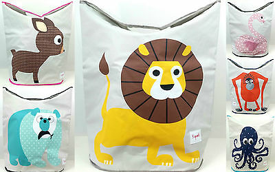3 Sprouts Laundry Bin KIDS 6 Fun Animal Designs Cute Lion, Swan - Durable NEW