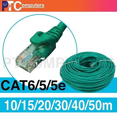 10m/15m/20m/30m/40m/50m Cat6/Cat 6 Ethernet LAN Network Patch Cable Cord-Green