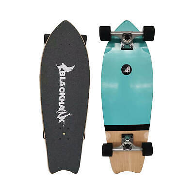 "BLACKHAWK 23x6"" 7Ply Premium Maple Deck ABEC-7 Mini Cruiser Complete Skateboard"